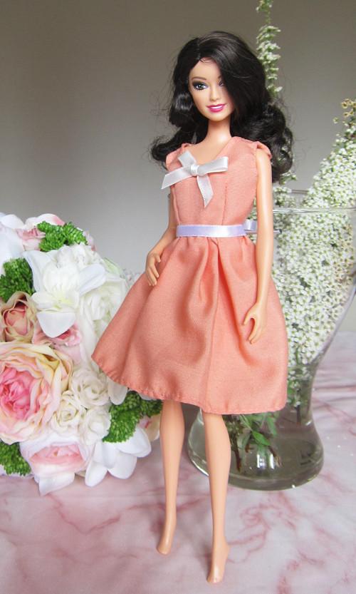 Barbie lososové šaty - VÝPRODEJ