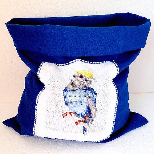 Látkový pytlík modrý