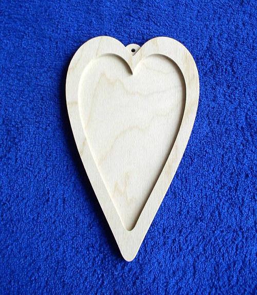 Srdce obrázek -. závěs DL535