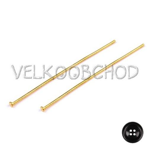 Ketlovací nýty 50 mm (250 ks) - zlato