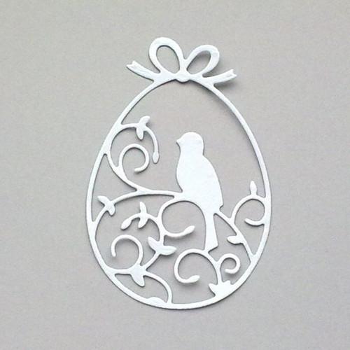 Výsek - Kraslice s ptáčkem - barva dle přání