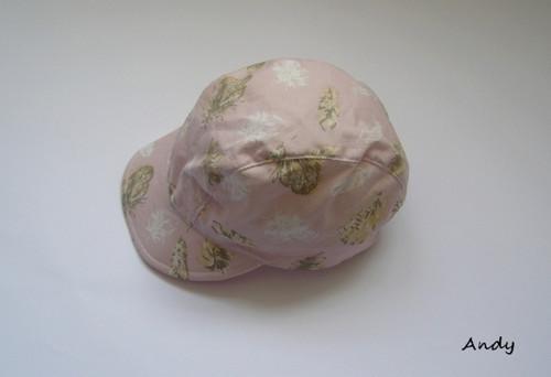 kšiltovka - peříčka na růžové