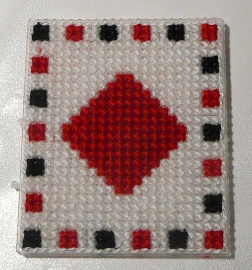 Vyšívaná magnetka - karta 2