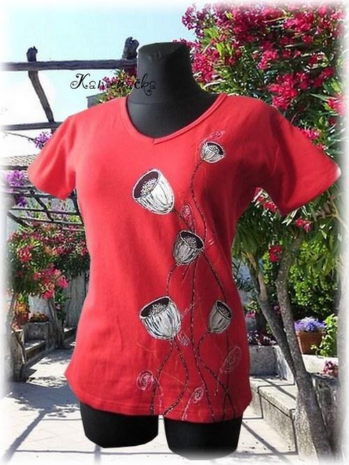 dámské tričko -makovice