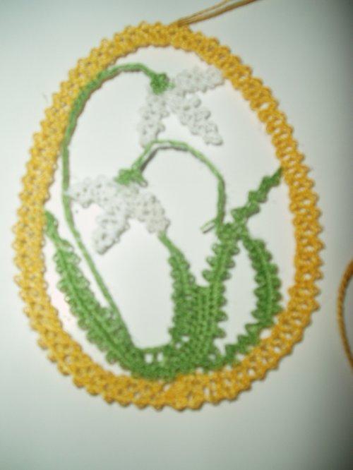 Sněženky ve vajíčku barevné
