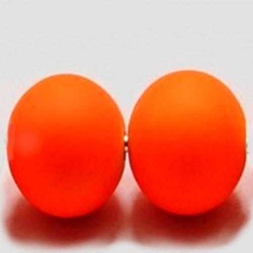 AKCE-Plastové korálky neon oranžové - 6 mm - 20 ks