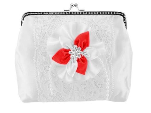Dámská kabelka bílá, svatební kabelka E9