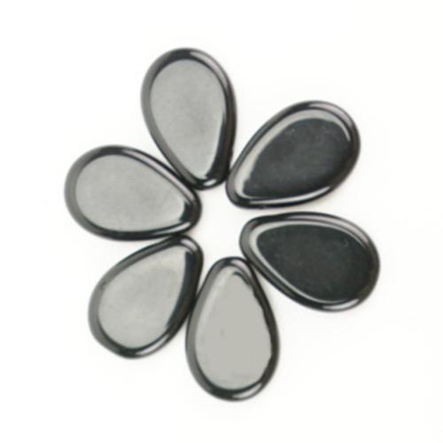 Skleněné visátka 12x18mm - černá (20ks)