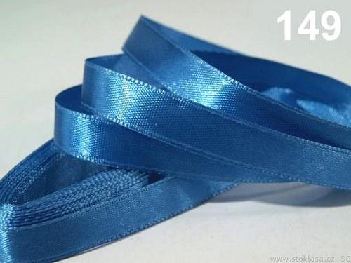 Stuha saténová š.12mm modrá světlá