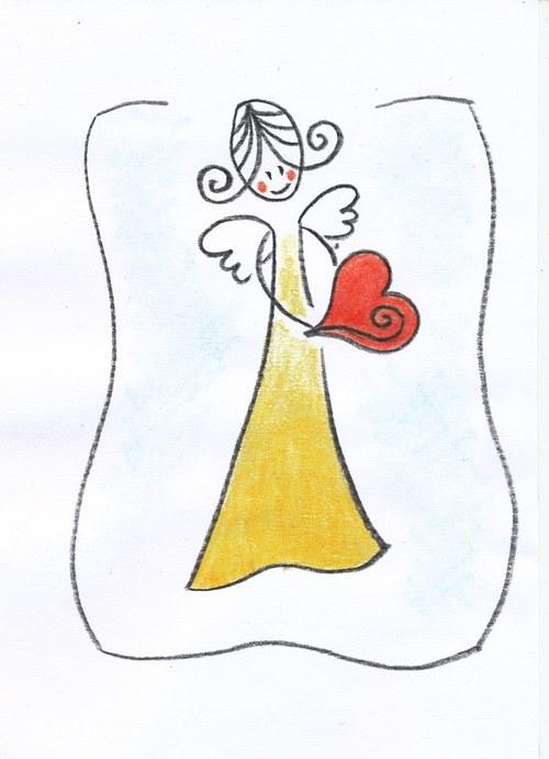 Anděl se srdcem na dlani