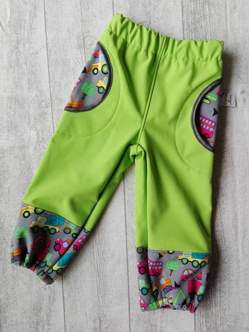 Dětské softshell kalhoty zelené vel.92