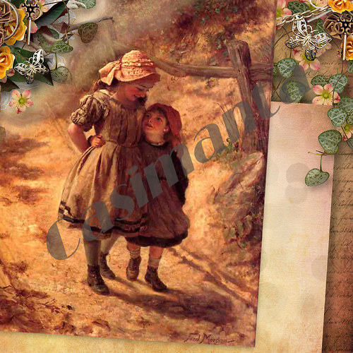 Sestřičky - vintage motiv