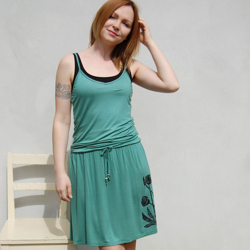 Šaty Chrpa – mátová zelená