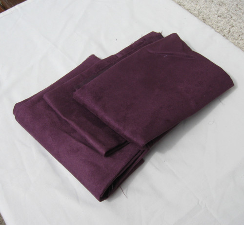 Broušená kůže fialová - cena za 3 kusy