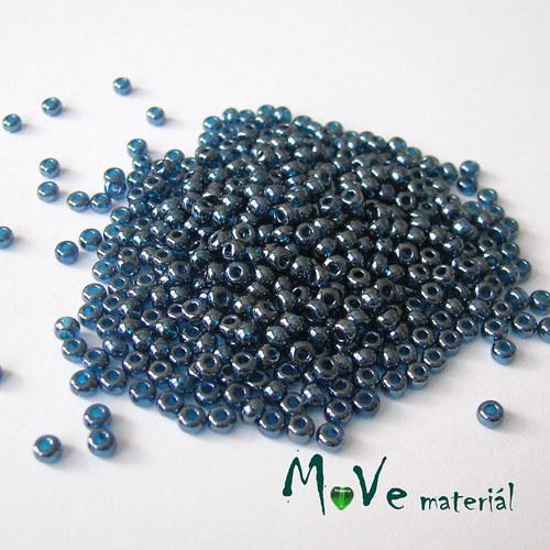 Český rokajl cca 3-3,5mm 20g, kovově modrý