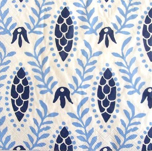 Ubrousek s modrými ornamenty IKEA