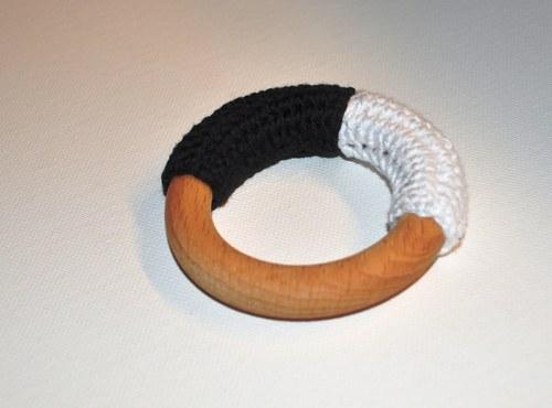 Kroužek černo-bílý