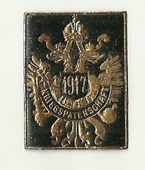 Zálepka znak Rakousko Uhersko 1917