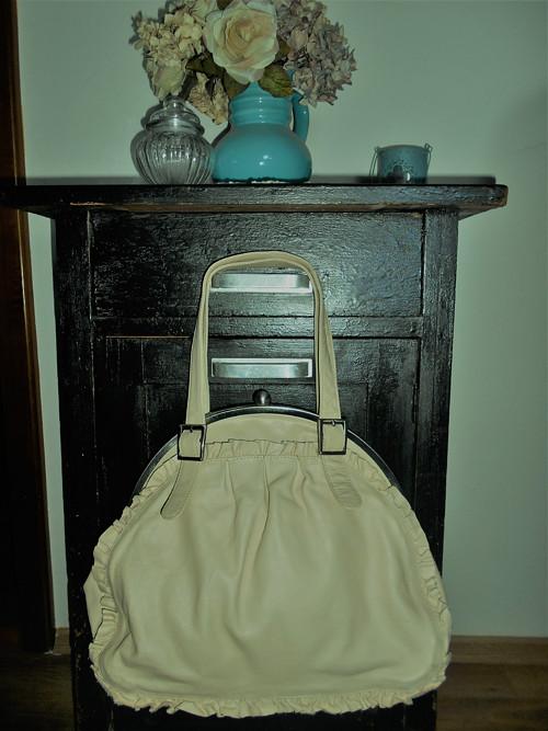 Kožená -vintage kabelka