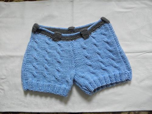 Pletené šortky
