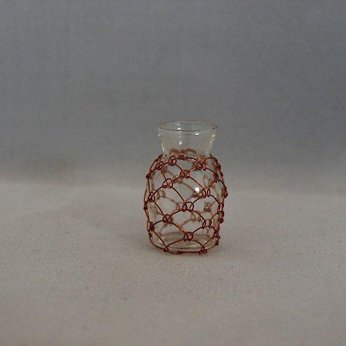 Odrátovaná sklenička miniatura