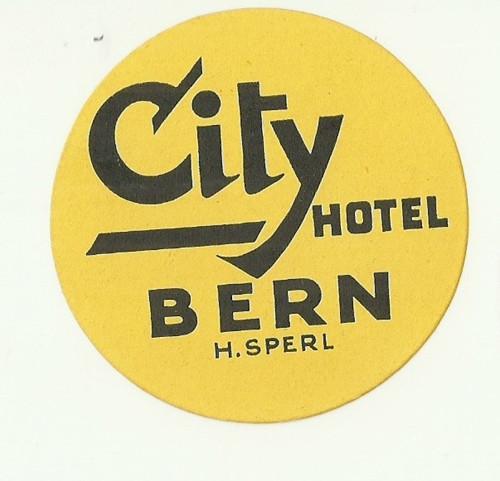 Hotelové nálepky styl Brusel Bern