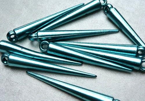 Plastová špička / hrot 35 mm - tyrkys / 2 ks
