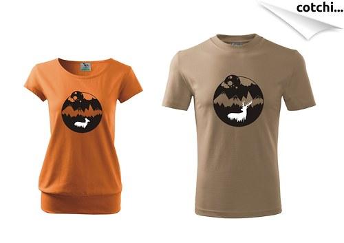 Zamilovaná trička pro pár - LESNÍ ** více barev**