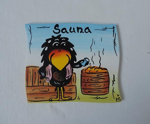 Cedulka na dveře-sauna