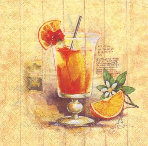 Ubrousek - kokteil z pomerančů