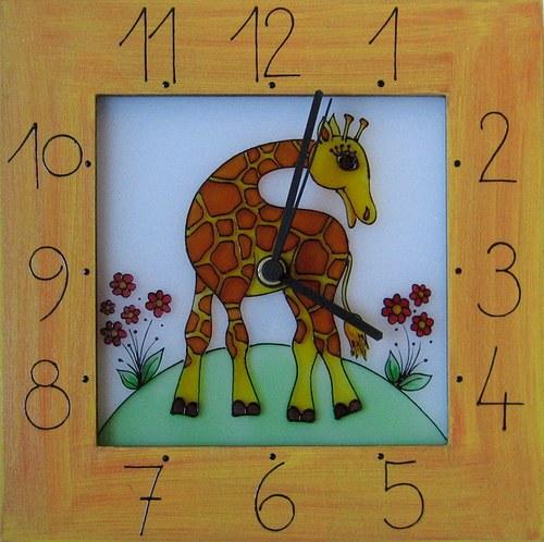 Žirafa - hodiny v rámu 25cm