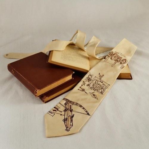 Vynálezy - hedvábná kravata