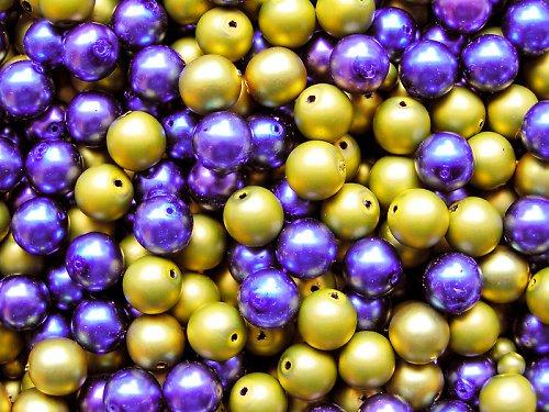 Voskové perle - fialovoolivová směs - směs