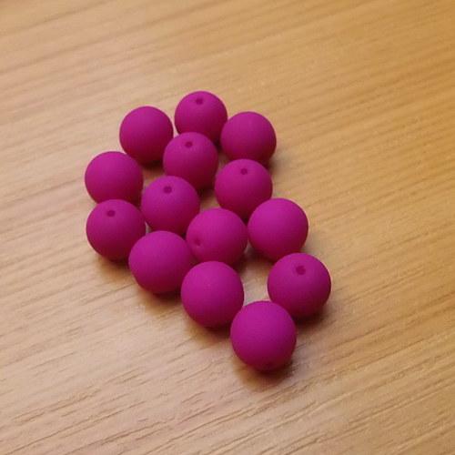 Neonové kuličky 8mm - fialové