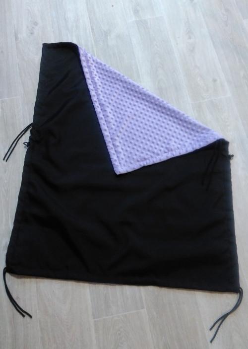 Nepadací deka černo-fialková
