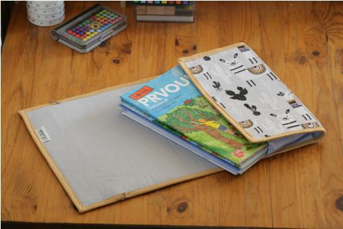 Textilní desky do školy A4 s lamami