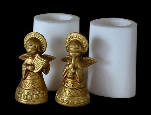 Formy na svíčky Andělíčci zlatí - výška 18cm