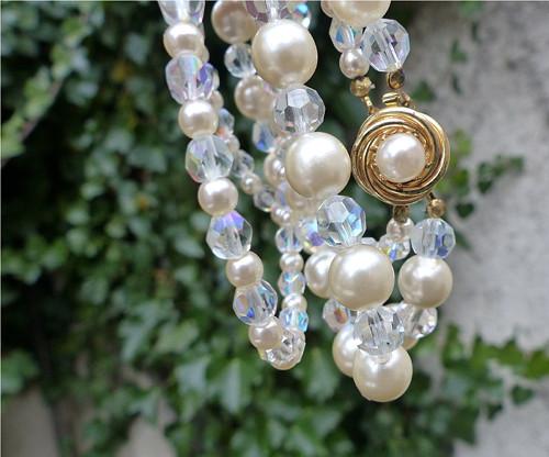 Na plese...skleněný náhrdelník, Jablonecko
