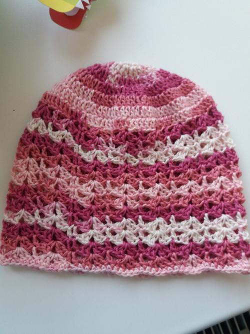 Letní čepice růžový melír