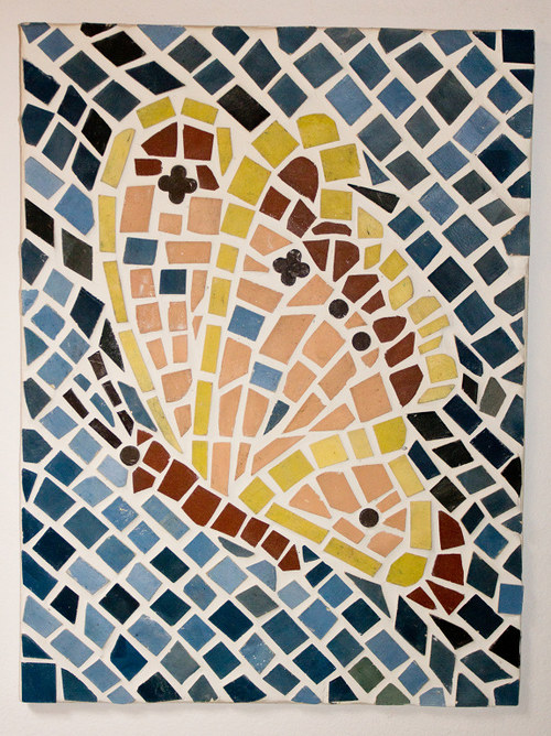 Keramická mozaika - motýl (bez rámu)