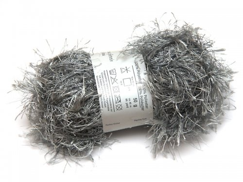 Pletací příze - 50 g - stříbrná