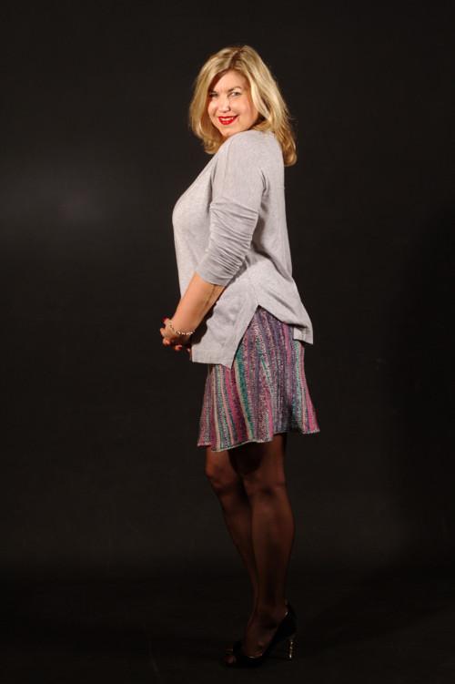 Popis - návod na pletenou sukni Across