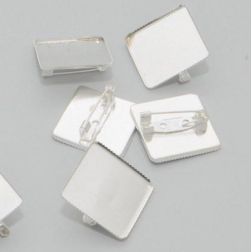 Brožová placička 5 ks / stříbro