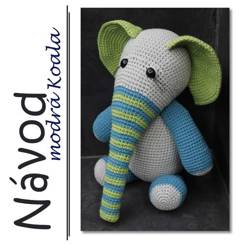 Háčkovaný sloník Jackob - Návod