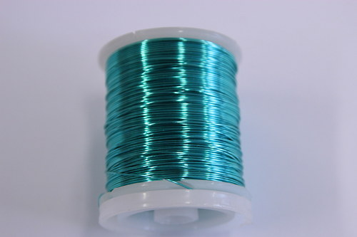 Měděný drátek 0,8mm - tyrkysový, návin 8,5-9m