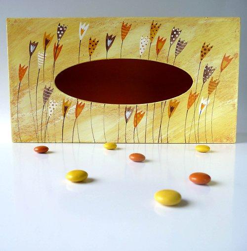 pelíšek pro trpaslíka - žlutý s tulipány