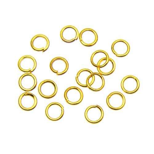 Zlaté spojovací kroužky 4 mm, 100 ks