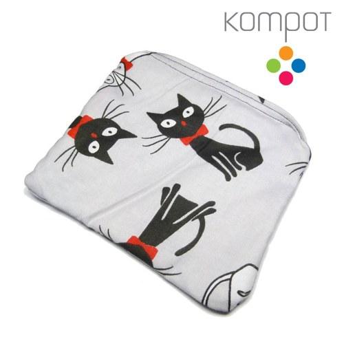 Látková kapsička 244 :: Černá kočka, bílý kocour