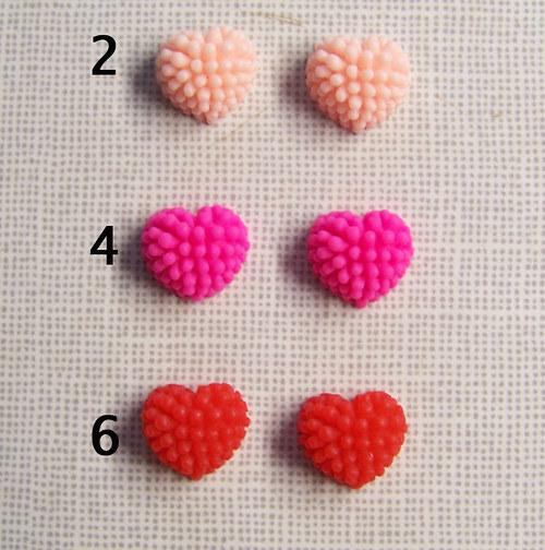 Srdce ježatka/ MIX/ 13mm/ 6ks