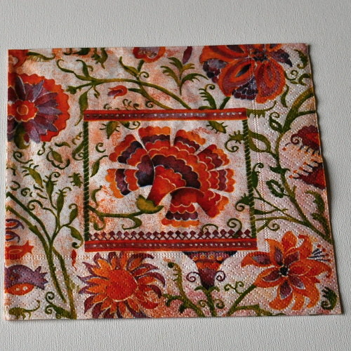 Ubrousek - Květ v ornamentu